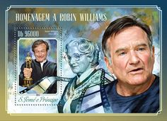 Post stamp São Tomé and Príncipe ST 14516 bTribute to Robin Williams (1951-2014)