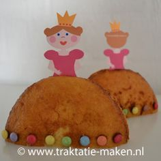 Afbeelding van de traktatie Prinses van eierkoek Princess Birthday, Princess Party, Princess Cakes, Girl Birthday, Party Treats, Birthday Treats, Toddler Meals, Kids Meals, School Treats