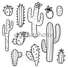 pinterest cactus drawing - Google zoeken