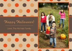 Mixbook Harvest Dots Halloween Cards and Invitations