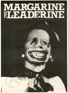Gee Vaucher, collage for International Anthem 2, 1979 Margarine the Leaderine