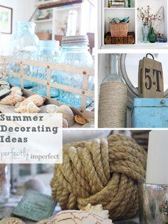 Summer decorating Ideas | Coastal Decor | Perfectly Imperfect Blog