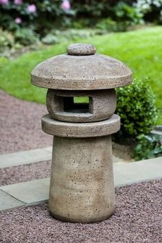 Sapporo Lantern cast stone pagoda statue made by Campania International