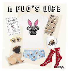 """A Pug's Life..."" by casetify ❤ liked on Polyvore featuring Topshop, Etiquette, Halcyon Days and Casetify"