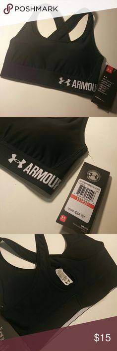 Under Amour Bra 100% Authentic Breathable quick dry cups signature HeatGear fabric  refer to last list picture for accurate sizing Under Armour Intimates & Sleepwear Bras