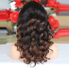 100% human hair full lace wigs.  highlighted with color30 . and Ombre color. loose curly chinese virgin hair wig