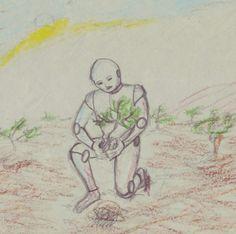 #roboter #zeichnung #fantasie #pflanzen #pflanze #fantasy