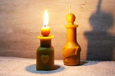 Beeswax Candle bottle flacon poison love potion elixir of