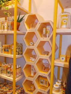 cardboard boxes joined student hexagons bee hive - Google Search