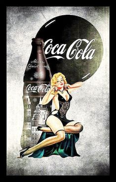 Coca Cola pin up girls. Vintage Coca Cola, Coca Cola Poster, Coca Cola Ad, Coca Cola Bottles, Vintage Advertisements, Vintage Ads, Advertising Ideas, Etiquette Vintage, Drawn Art