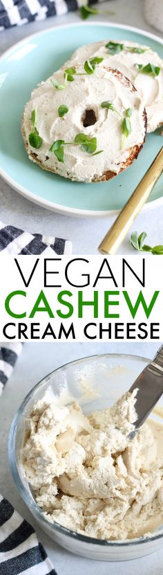Easy Vegan Cashew Cream Cheese Recipe The creamiest, tangiest, most delicious Easy Vegan Cashew Cream Cheese! Made with just 4 ingredients. You'll never look at cashews the same again! Cashew Cream Cheese Recipe, Vegan Cheese Recipes, Vegan Sauces, Cream Cheese Recipes, Vegetarian Recipes, Snack Recipes, Cooking Recipes, Healthy Recipes, Vegan Cream Cheese
