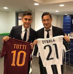 Paulo Dybala and Francesco Totti