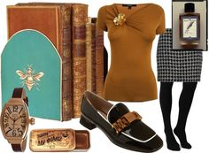 """""""Librarian Chic"""" by koko27 on Polyvore"""