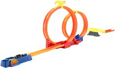 Hot Wheels Moto Track Stars Double Loop Track Set