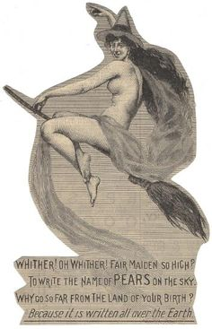 An 1899 version of the beautiful witch used in a Pears' Soap campaign. Soap series, Warshaw Collection of Business Americana, Archives Center, National Museum of American History. American History Museum, Monster Under The Bed, Beautiful Witch, Scary Monsters, Vintage Ephemera, Vintage Halloween, Halloween Diy, Popular Culture, Vintage Advertisements