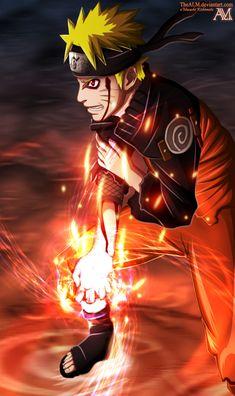 Naruto Kyubi Rasengan by TheALM.deviantart.com on @deviantART