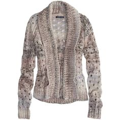 American Eagle Open Metallic Knit Cardigan (35 AUD) ❤ liked on Polyvore featuring tops, cardigans, sweaters, sweaters and jackets, tops - cardigans, purple, metallic cardigan, brown cardigan, american eagle outfitters and brown tops
