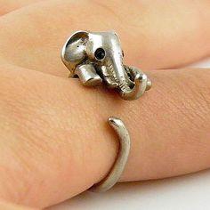 Animal Wrap Ring - Squirrel / Chipmunk - White Bronze - Adjustable Rin – Keja Designs Jewelry