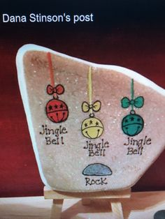 Rock Painting Patterns, Rock Painting Ideas Easy, Rock Painting Designs, Pebble Painting, Pebble Art, Stone Painting, Painted Rocks Craft, Hand Painted Rocks, Christmas Rock