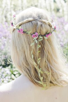 Baby Pink Flower Crown, Paper Rose Flower Crown, Pink Rose Headband, Bridesmaid Flower Crown – Beauxoxo- Handmade, Hair Accessories