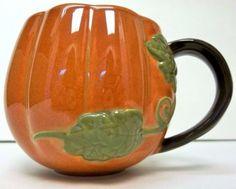 32.95 Starbucks-Pumpkin-Mug-Fall-Hand-Painted-2009-Vine-Handle-13-oz-Coffee-Cup-Autumn  #Starbucks #Pumpkin #Mug #HandPainted #Coffee #Fall