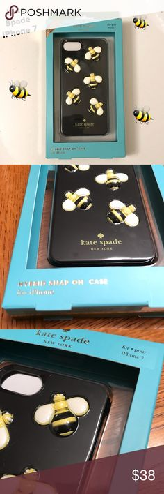 """NWT Kate Spade """"Bee"""" iPhone 7 Case This is super cute!!!  Cute raised Bees adore this snap on case. Brand New!!!   This is for the iPhone 7 kate spade Accessories Phone Cases"""