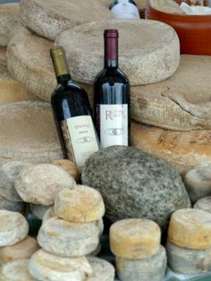 Wine and cheese at Open-Air Market, Lake Maggiore, Arona, Italy