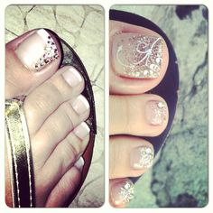 Love this! Classic french with some sparkle to make it fun.  | See more at http://www.nailsss.com/french-nails/3/
