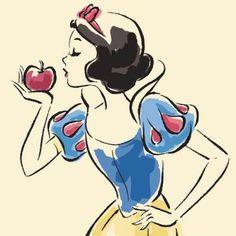 Disney Tattoo - Snow White Sketch by Disney Princess - Art Draw Disney, Disney Pixar, Disney And Dreamworks, Disney Magic, Disney Movies, Walt Disney, Tinkerbell Disney, Disney Villains, Disney Princesses