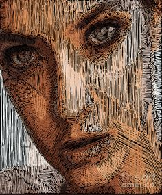 Studio Portrait In Pencil  Digital Art by Rafael Salazar