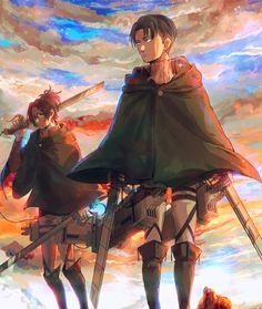 Hanji and Levi - Attack on Titan - Shingeki no Kyojin