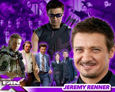 Jeremy Renner is just one of 41 Celebrity Guests attending #FANX16! Click image to get familiar with them! #utah