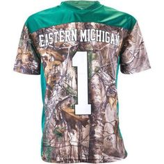 Ncaa Eastern Michigan Men's Realtree Game Day Jersey, Size: Large, Green
