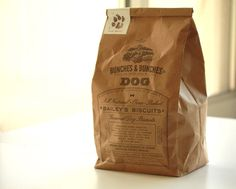 Great throwback packaging design. Makes you feel like your getting something real and homemade..almost wouldn't want to give it to a dog!