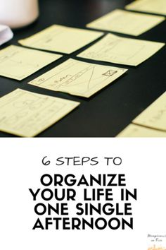 Organize Your Life in 1 Single Afternoon