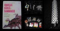 Maaliskuu 2013, yleisrinki. Himokas härkäsammakko -kirja. Käärme-, miekka-, perhos-, ja hämisriipukset. Paljon erilaisia teelaatuja. Kinderpatukka. Suklaalusikka juomatsydeemi. Sateenvarjo.