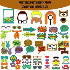 Instant Download Scooby Doo Inspired Printable Photo Booth Prop Set — Amanda Keyt DIY Photo Booth Props & More!