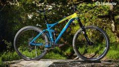 The One-Forty 7. 900 sits at the top of Merida's trail range. It's wedged into the crammed 140mm (5.5in) travel trail bike