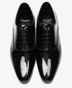 Shoes of the Day: Saint Laurent Richelieu Black Patent Leather Oxford Shoes | UpscaleHype