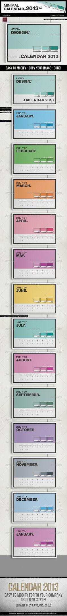 Calendar 2013 v2 A4 Template