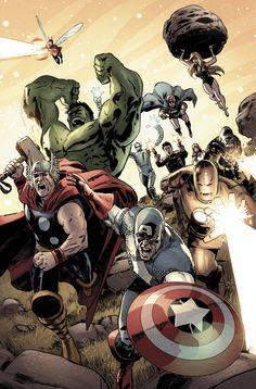 The Avengers Los vengadores - Gabriel Hardman . For more images follow pyra2elcapo
