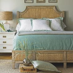 Coastal Living™ by Stanley Furniture Resort Water Meadow Woven Bed in Distressed Weathered Pier bedroom Tropical Bedrooms, Coastal Bedrooms, Coastal Living Rooms, Coastal Cottage, Coastal Style, Coastal Decor, Modern Coastal, Coastal Farmhouse, Coastal Rugs