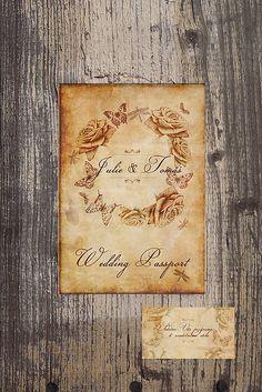 vanilkovy.kaktus / Svadobne oznamenie Wedding passport