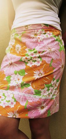 Upcycle a vintage pillowcase into a simple a-line skirt