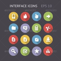 Flat Icons For Interface - Web Icons