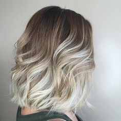 Blonde Ombre Lob Hairstyle