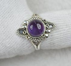 NATURAL UNTREATED AMETHYST RING 925 STERLING SILVER JE472 Rock Rings, Sapphire, Amethyst, Gemstones, Sterling Silver, Natural, Jewelry, Jewlery, Gems