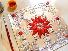 ¿Cómo pintar sobre el repujado en aluminio?