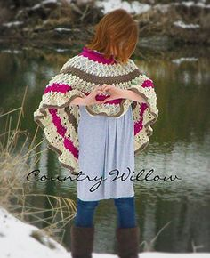 Neverending Love Poncho - Crochet Pattern by @countrywillow12 | Featured at Country Willow Designs - Sponsor Spotlight Round Up via @beckastreasures | #fallintochristmas2016 #crochetcontest #spotlight #crochet #roundup
