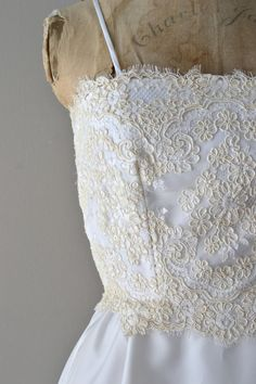 Lisianthus wedding dress / lace 60s dress / vintage by DearGolden